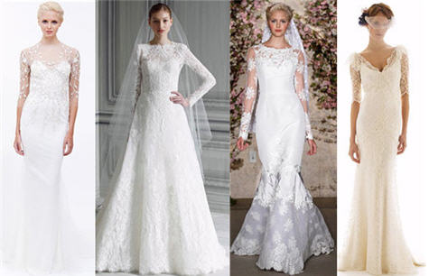 We 39ve seen sleeves galore on wedding gowns all around the Fall 2011 Runways
