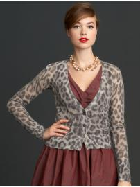 The Mad Men® Collection animal print cardigan