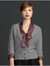 The Mad Men® Collection cabled dolman cardigan