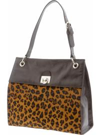 The Mad Men® Collection leopard print satchel