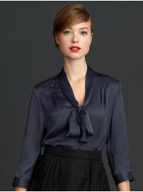 The Mad Men® Collection tie neck top
