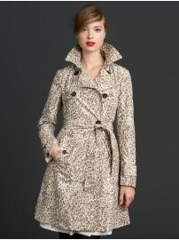 The Mad Men® Collection leopard print trench