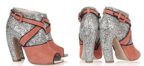 6de164c3b52e These Miu Miu glitter and suede booties are selling out fast