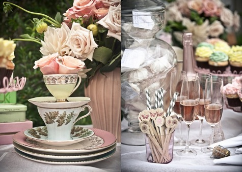 looking to throw a gorgeous tea party themed shower or wedding weve searched the web high and low to bring you fabulous tea sets tiered cake servers