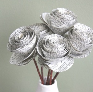 Dictionary Paper Roses