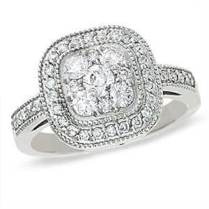 Endless Diamonds Cushion Ring