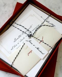 Hand Written Note Wedding Invitation Suite