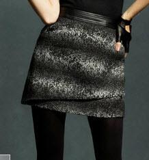 Karl Lagerfeld for Macy's tweed mini skirt