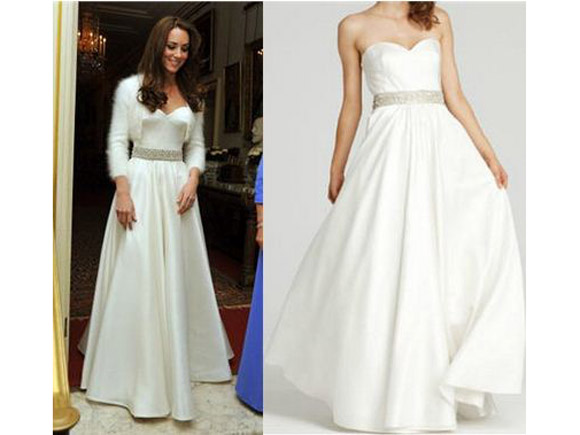 Kate Middleton Reception Dress - ABS Royal Dresses - Online Deals