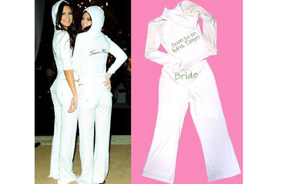 Bride And Groom Sweat Suits Wedding Ideas