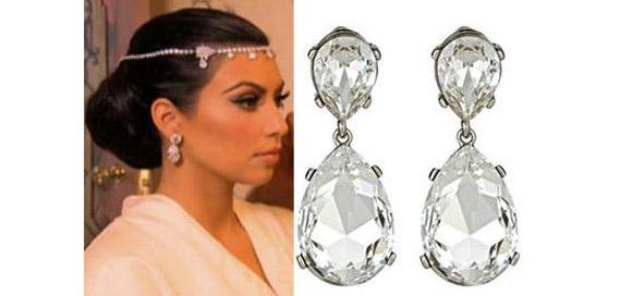 Kim Kardashian Wedding Jewelry Kenneth Jay Lane Wedding Earrings