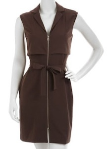 Marc New York by Andrew Marc Zip-Front Tie-Waist Dress,