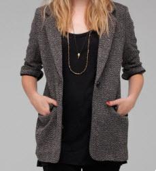 Need Supply Tweed blazer