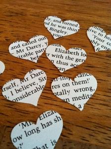 Novel Wedding Heart Confetti