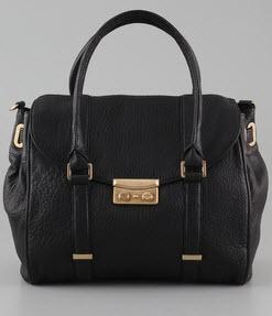 Rachel Zoe Melissa pebbled leather satchel