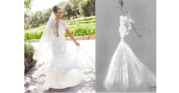 Molly sims wedding dress molly sims wedding photos marchesa shefinds weddings junglespirit Images