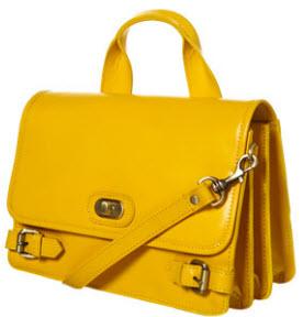 Topshop mustard satchel