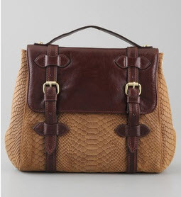 Twelfth St by Cynthia Vincent brown leather satchel bag