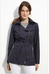 Vince Camuto belted navy trench coat