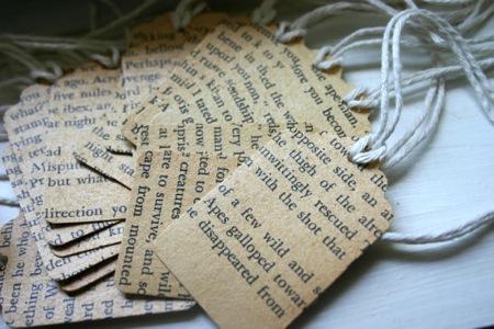 Vintage Book Tags