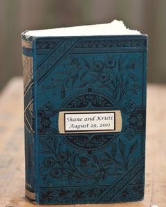 Vintage Wooden Guestbook
