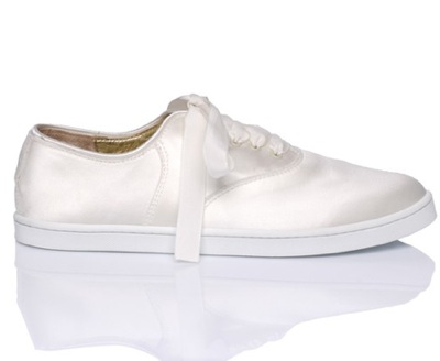 introducing the satin bridal sneaker the anti heel wedding shoe