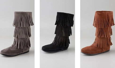fringe boots are comfortable easy to pack and feature suede fringe