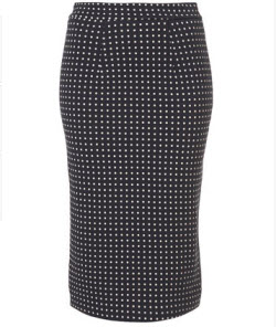 10. Polka dot pencil skirt
