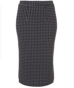 10. Polka dot pencil skirt