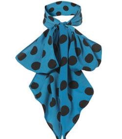 3. Polka dot scarf