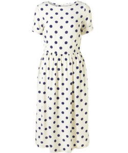 4. Polka dot midi dress