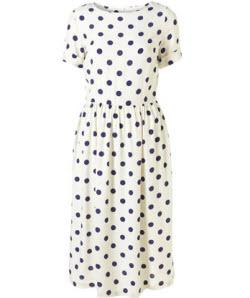 4. Polka dot midi dress