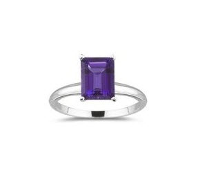 5.12 Ct Amethyst Solitaire Ring in Platinum