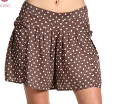 8, Free People polka dot shorts