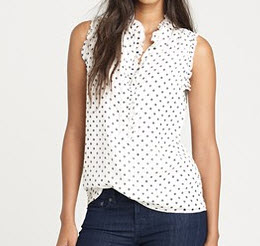 9. Silk polka dot top