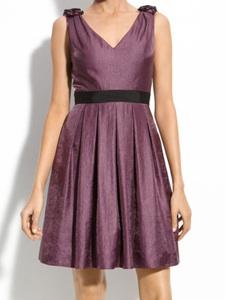 Adrianna Papell Shimmer Ruffle Trim Dress