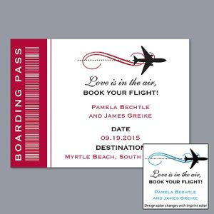 Boarding Pass Save The Date Magnet