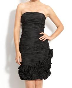 Dalia MacPhee Ruched Taffeta Dress