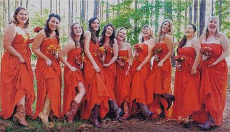 Deanna Pas Pulls A Miranda Lambert With Cowboy Boot Clad Bridesmaids
