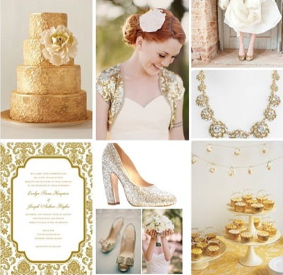 There are few hues that look as glorious as gold at a wintertime wedding