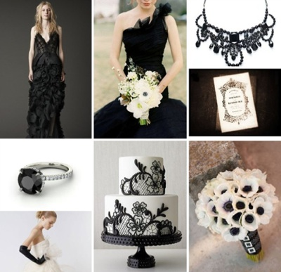 From black diamonds to black cakes to black wedding dresses like Wang 39s
