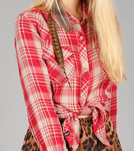 Rails Kendra Button Down Shirt in Red Plaid