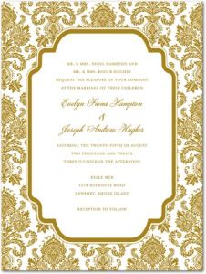 stately stardust th gold invitations
