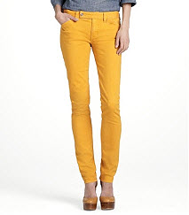 Tory Burch yellow jeans