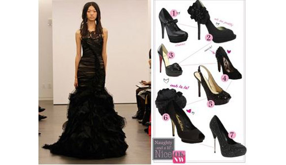 Wedding Blogs | Vera Wang Black Wedding Dresses | Black Wedding Shoes