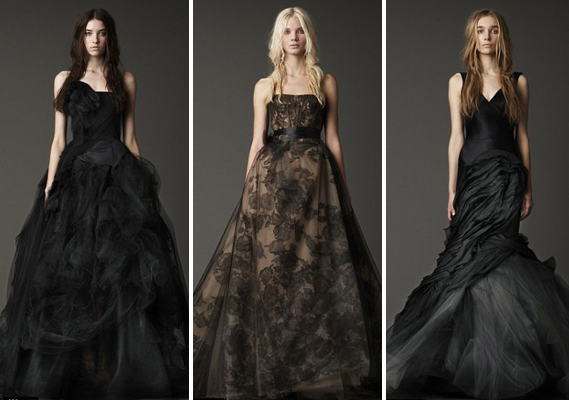 Vera wang fall 2012 vera wang wedding dresses black wedding dresses vera wang is generally ahead of any bridal trend by 2 or 3 seasons ie her blush and lavender gowns from 2008 so when she showed black and nude wedding junglespirit