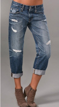 AG ripped boyfriend jeans