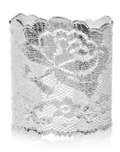Aurelie Bidermann Silver-dipped lace cuff