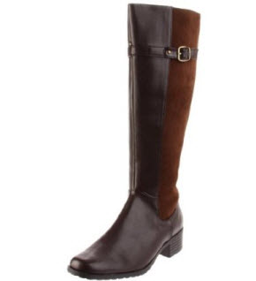Annie Shoes Two toned riding boots