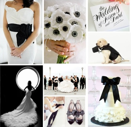Black White Wedding | Black Wedding Decor | Black Wedding Belts